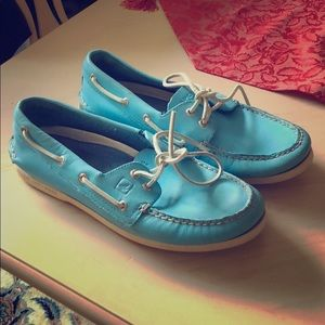 Blue sperry shoes size 10